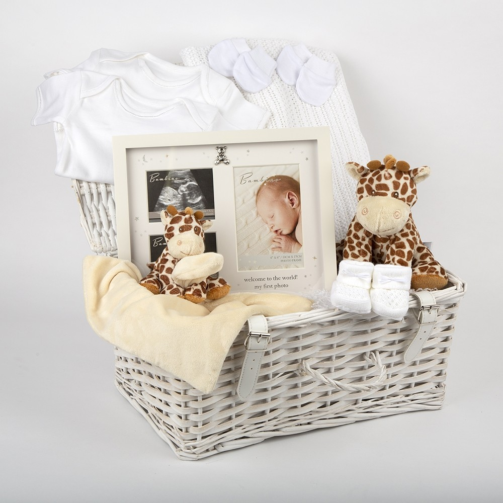 White Baby Hamper