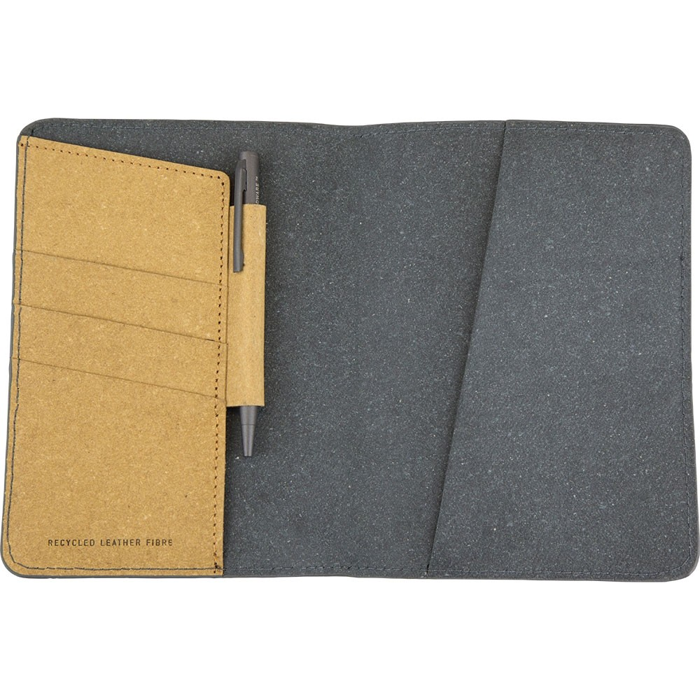 Recycled Leather Fibre Travel Wallet & Pen