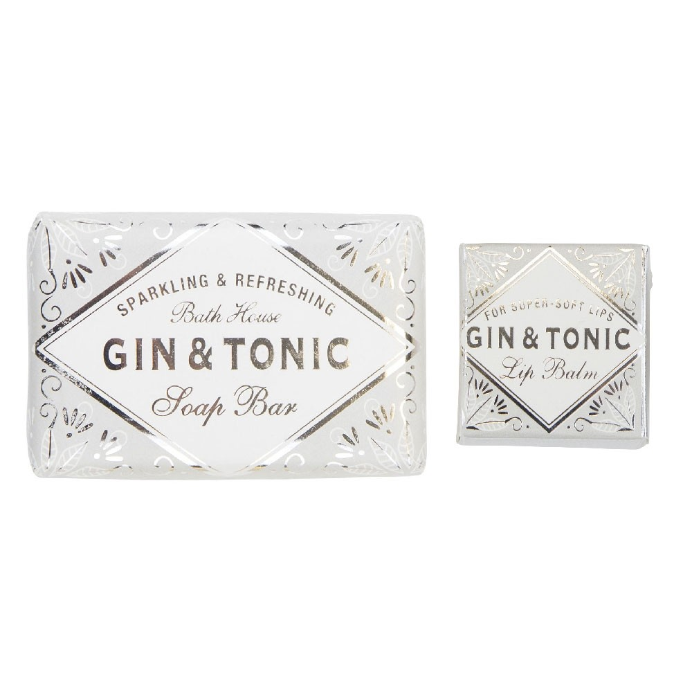 Gin & Tonic Lip Balm and Soap Set