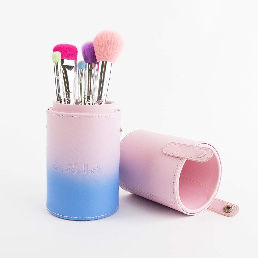 Cressida Harte Rainbow Unicorn Makeup Brush Set with Tub Holder