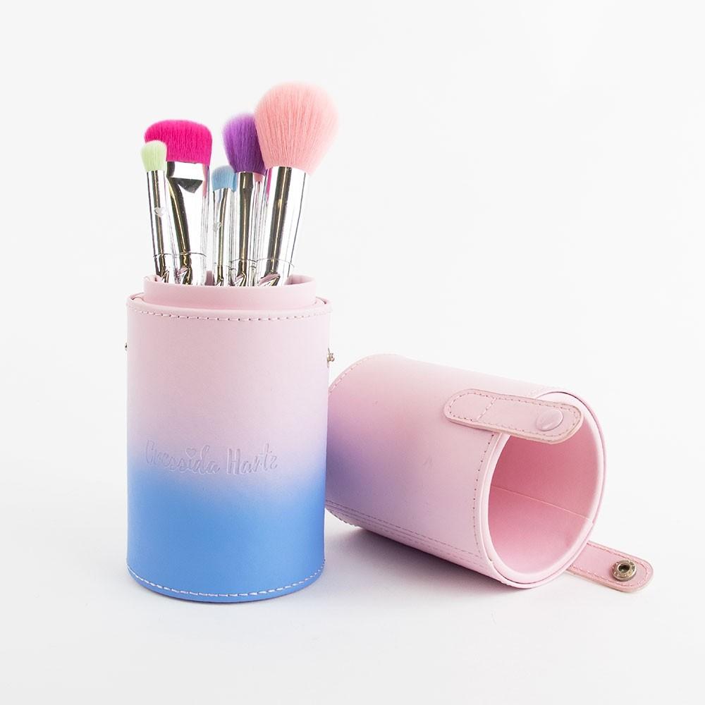 Cressida Harte Rainbow Unicorn Makeup Brush Set with Tub Holder