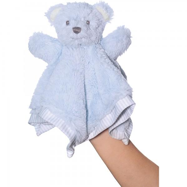 Hug-a-Boo Blue Finger Puppet Bear Blankie
