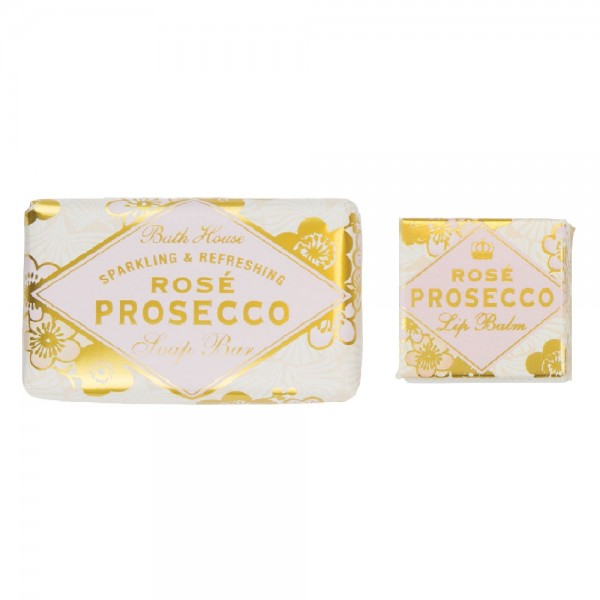 Rosé Prosecco Soap Bar and Lip Balm Set