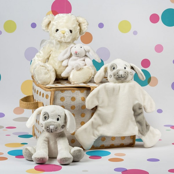 InterGift Cuddle Bundle Baby Hamper with Gold Spot Hamper