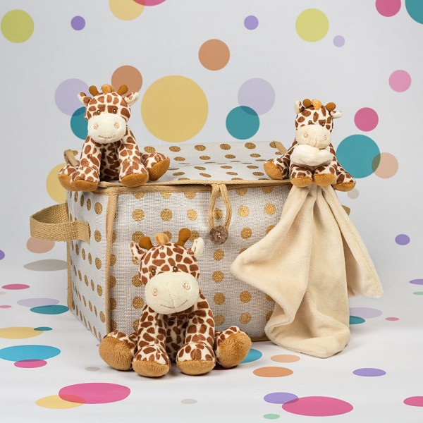 InterGift Bing Bing Giraffe Baby Hamper with Gold Spot Hamper